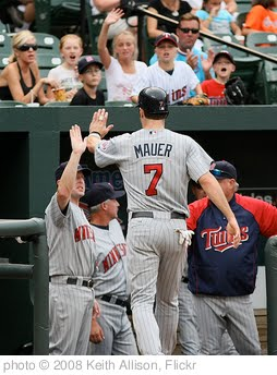 'Joe Mauer' photo (c) 2008, Keith Allison - license: http://creativecommons.org/licenses/by-sa/2.0/