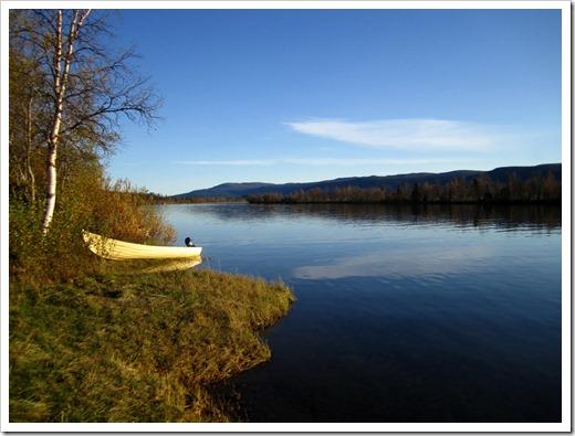En eftermiddag som denna skulle jag inte ha något emot att glida fram på vattnet.