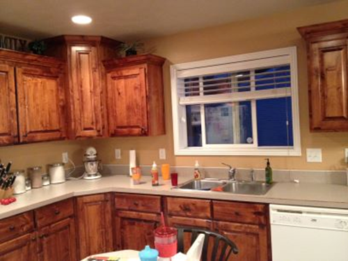 Paint color with wood cabinets