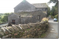 Townend barn side view and wall