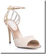 Max Mara Nude and Gold Sandal