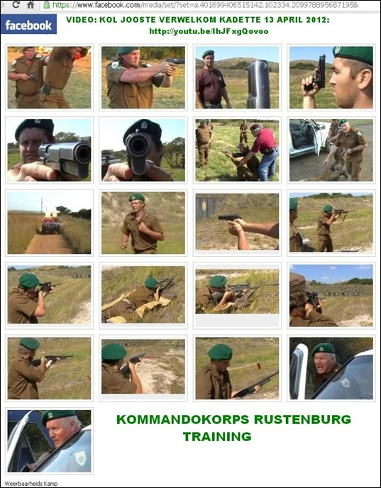 KOMMANDOKORPS RUSTENBURG TRAINING PICTURES APRIL 2012