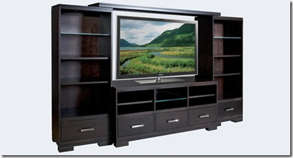 Grandville TV Unit with Bookcases and Bridge