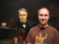 Scott Nelson with Thomas Edison.
