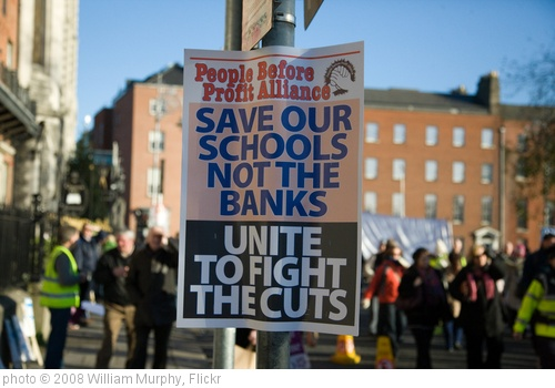 'Save Our Schools Not The Banks' photo (c) 2008, William Murphy - license: http://creativecommons.org/licenses/by-sa/2.0/