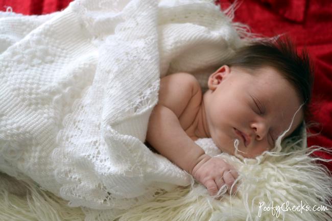 Poofy Cheeks: Newborn Baby Delilah