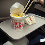 cup noodles on the flight in Chiba, Tokyo, Japan