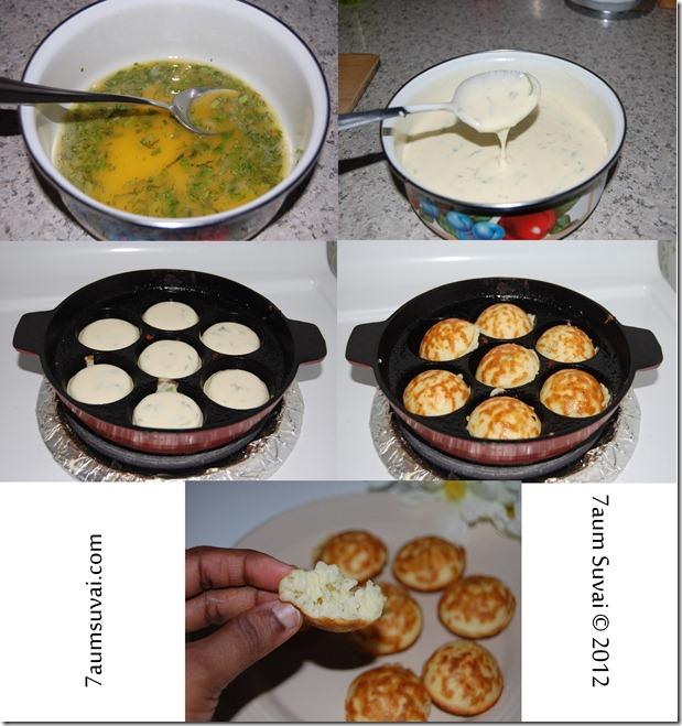 Egg paniyaram Process