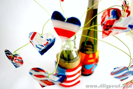 Patriotic Bottle Art with Shrink Plastic