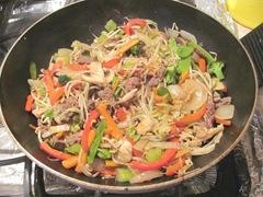 beef stir fry w sauce
