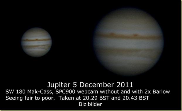 5 December 2011 Jupiter