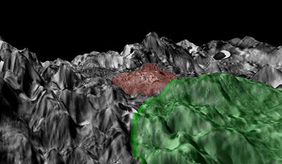 área em torno do Complexo Vulcânico Compton-Belcovich