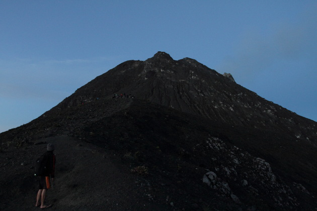 Trek to Gunung Merapi, an active volcano in Indonesia