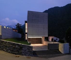Casa moderna de hormig n davide macullo lumino suiza for Casas modernas hormigon visto