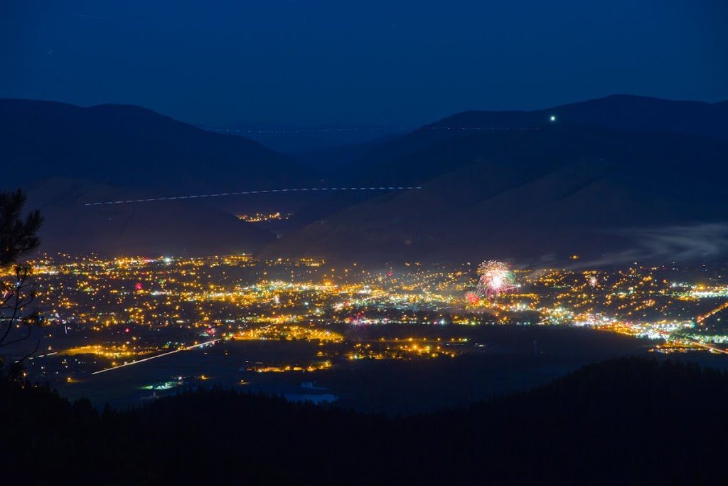 Missoula on the 4th of July Missoula, Montana © Mark Mesenko. (dotted lines are aircraft). Prints available at www.mesenko.com