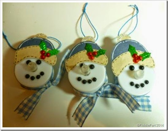 Tealight snowmen...