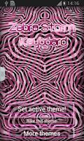 Screenshot of Zebra Storm Keyboard