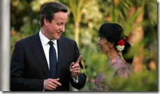 David Cameron Aung San Suu Kyi