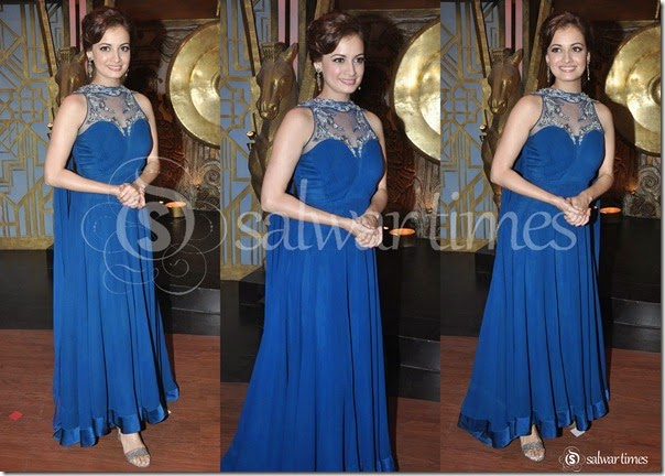 Dia_Mirza_Blue_Long_Kameez