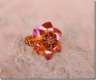 Swarovski Crystal Astral Pink 10mm Heart pendant ring chibistar88 rachel graham