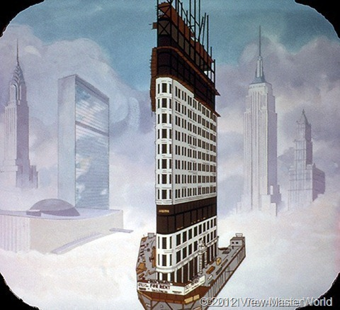 View-Master The 20th Century (B813), Scene A-3: New York Skyscrapers, 1901