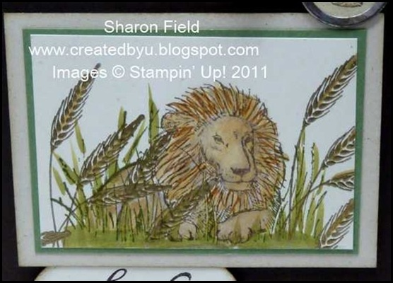 2.coloring the lion and embossed wheat
