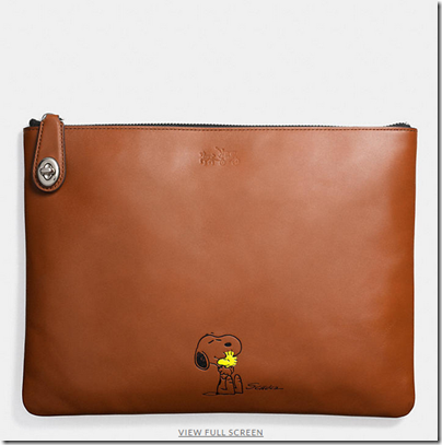 COACH X Peanuts large folio - USD 180 - SV saddle