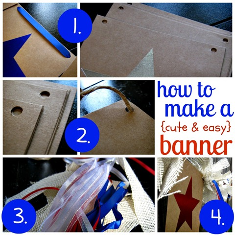banner tutorial 4th of July