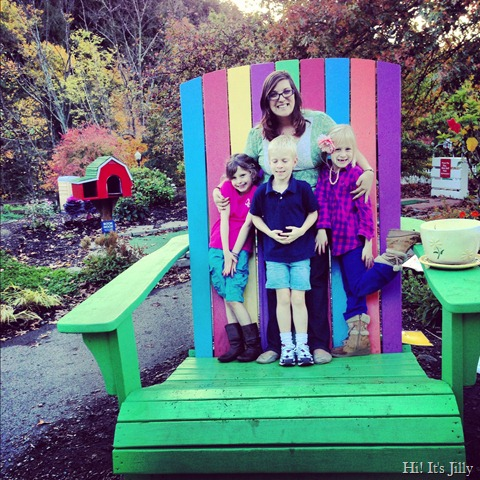 big chair in story garden