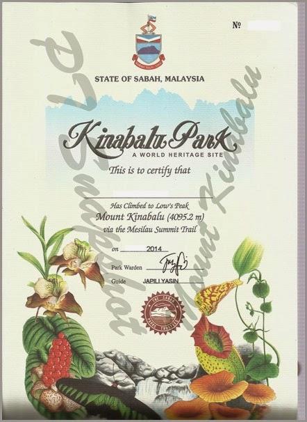 Kinabalu Park Mesilau Cert