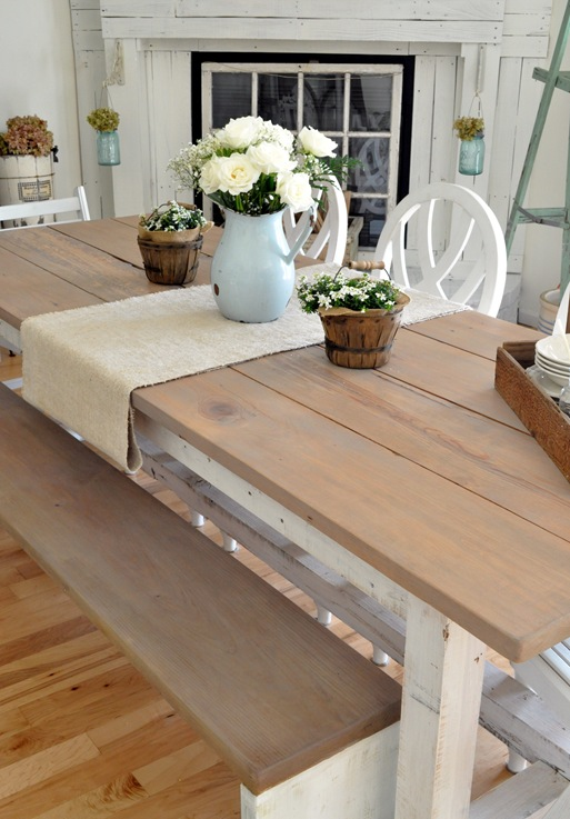 farm table w bench