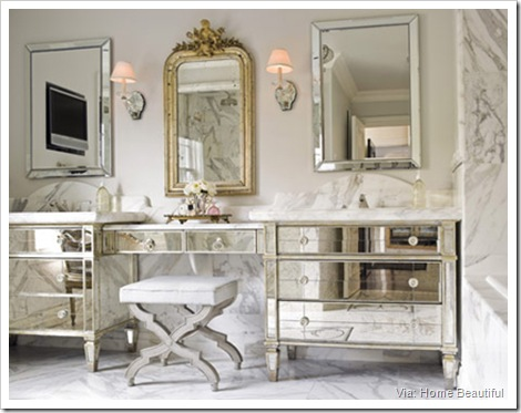 Master Bath of Mirrors and Marble (home beautiful)