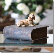 Basset Hound on Book Box