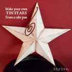 Make Your Own Tin Stars From A Cake Pan - choosetothrive.blogspot.com