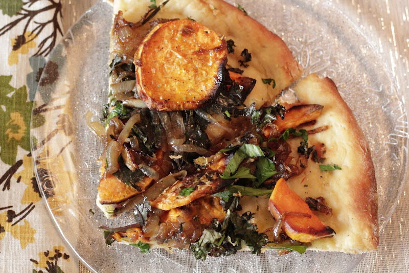 Sweet Potato Pizza With Kale And Caramelized Onions Recipes ...