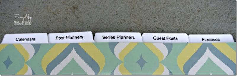 blog planner tabs