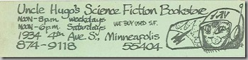 Uncle Hugo's Science Fiction Bookstore - Bookmark