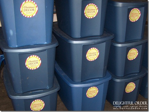 how do you organize and store all of your christmas dcor i use big sterilite bins