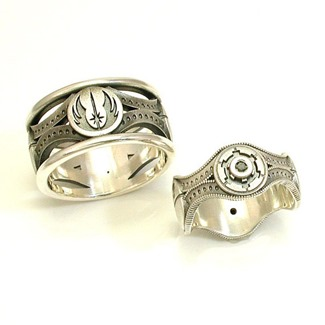 His & Hers Custom Star Wars Ring Set by Swank Metalsmithing