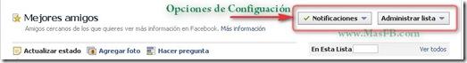 Configurar lista de Mejores Amigos en Facebook (2011)