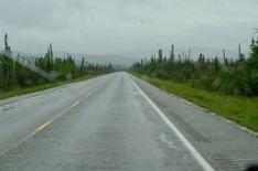 rain and gray on the Richardson Highway