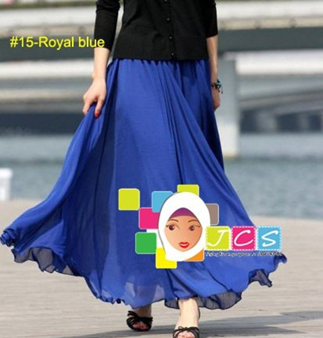 AWESOME CHIFFON CREPE ROYAL BLUE