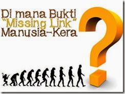 "2. Di mana Bukti ""Missing Link"" Manusia-Kera"