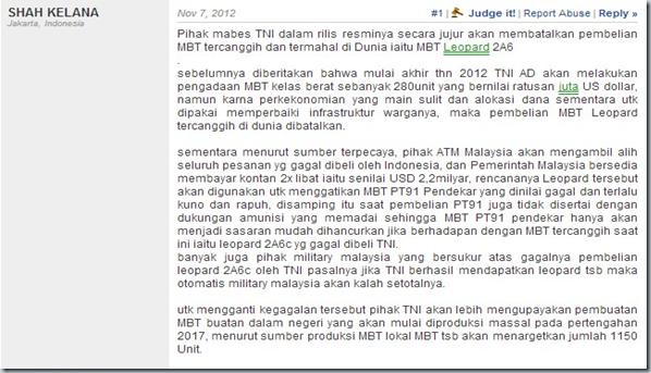 INDONESIA GAGAL MEMBELI LEOPARD 2A6 KARNA KEKURANGAN ANGGARAN - Topix