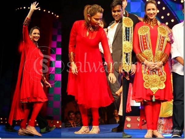 Lakshmi_Prasanna_Red_Salwar_Kameez