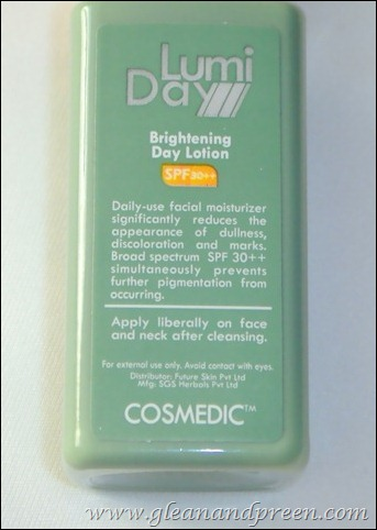 Cosmedic Lumifast Brightening Day Cream Review