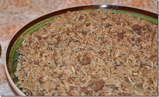 Arabic Rice Stuffing Recipe