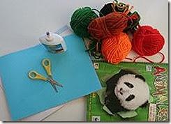 material targeta de lana