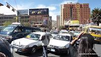 Verkehrschaos in La Paz