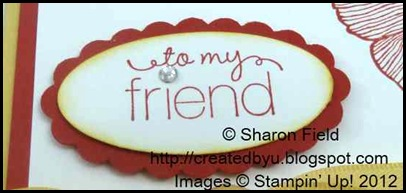 large oval and scallop oval punched sentiment